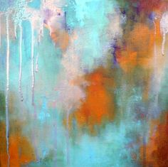 Abstract composition 6  original oil painting on by MariaKitanoArt, $100.00