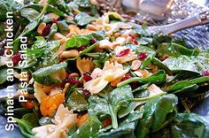 St. Patrick's Day Spinach and Chicken Pasta Salad