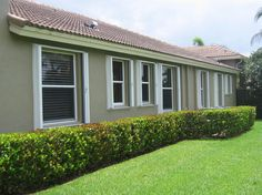 Our #AccordionHurricaneShutters are custom made and come in four different colors to minimize the impact on the aesthetics of your home. Take a look and see some of our installed projects @ http://www.prostormprotection.com/accordion-shutters-gallery