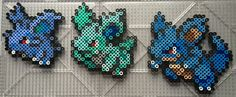 #029-#031 Nidoran (F) Family - Pokemon perler beads by TehMorrison
