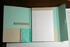 Splitcoaststampers - File Folder Notebook tutorial by Jenn Diercks