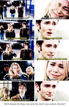 This is heartbreaking...I did not realize the parallel. #DoctorWho #TenandRose