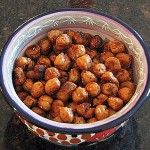 crispy roasted garbonzo beans - oh, I am trying this one soon!