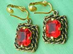 Vintage Sarah Coventry Majorca Earrings 1969 by wimpyren on Etsy, $14.00
