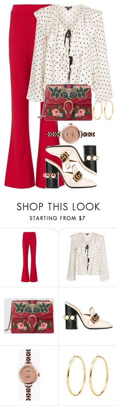 """""""Untitled #645"""" by iamsamball ❤ liked on Polyvore featuring Exclusive for Intermix, Topshop and Gucci"""