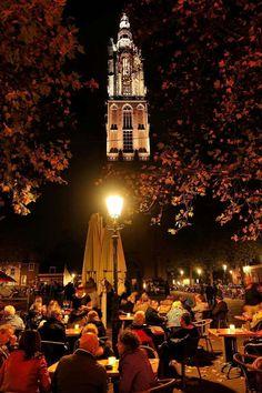 De nieuwe verlichting van de O.L.Vrouwetoren, Amersfoort.
