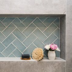 As seen on The Block - Add a splash of colour with the Handmade Subway series in the colour Sky. Available in a 75x150mm size and a range of different colours at Alstonville Tiles & Floorcoverings
