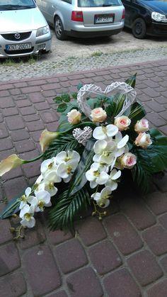 Casket Flowers, Funeral Flowers, Wedding Car Decorations, Deco Floral, Fall Flowers, Container Plants, Flower Bouquet Wedding, Ikebana, My Flower