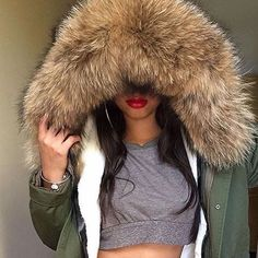 Shop the look: Shorti Fur Hood Parka CUTE OUTFITS FOR LOW PRICES SHIPPING WORLDWIDE ✈️ ►