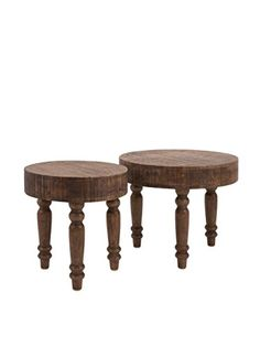 Set of 2 Hancock Wood Tables