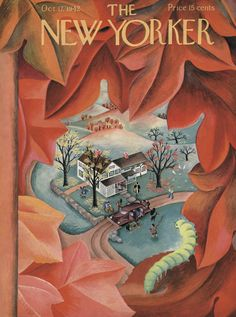 The New Yorker - Saturday, October 17, 1942 - Issue # 922 - Vol. 18 - N° 35 - Cover by : Ilonka Karasz