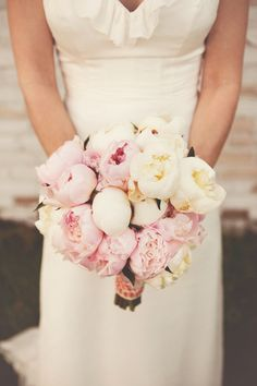 Pink and White Peony Bridal Bouquet | Serendipity | Render Photography | TheKnot.com