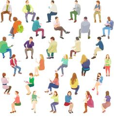 Drawing People sit - I introduce PNG file data. Illustration is a trimmed PNG file. These can be used in advertisements or architectural presentations. The height of one person is 1000 pixels. People Sitting Png, Person Sitting, Collage Architecture, Architecture People, Architecture Mapping, People Cutout, Cut Out People, Man Illustration, Character Illustration