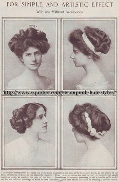 Guide for Victorian and Steampunk Hair Styles