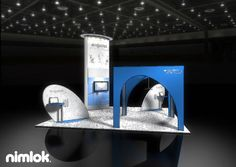 Nimlok designs and builds trade show booths and trade show exhibits. For Ergolet, we built a custom display to meet their needs.