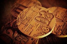 Graphic-ExchanGE - a selection of graphic projects  MrCup new products  - wood coasters - use to make them with letterpress