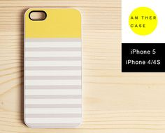 striped iPhone 5, iPhone 4/4s case - yellow