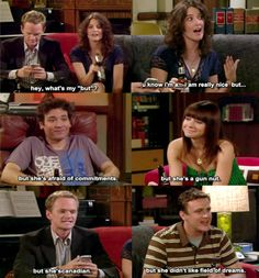 A tumblelog dedicated to news, memorable quotes, photos and other things from the hit CBS show. Ted And Robin, Barney And Robin, Series Movies, Movies And Tv Shows, I Meet You, Told You So, How Met Your Mother, Robin Scherbatsky, Afraid Of Commitment