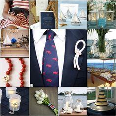A Nautical Wedding design. - http://thebridalring.wordpress.com/2010/03/05/a-nautical-affair-inspiration-board/Link