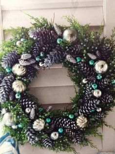 I like traditional reds and greens but this is a beautiful Christmas wreath