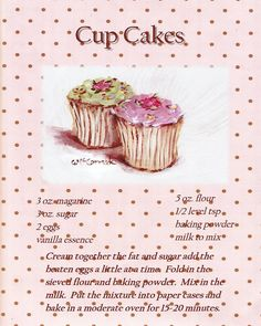 a recipe of cupcakes
