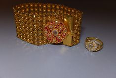 GG Straits Chinese Peranakan Gold Jewellery 16d Gemstones For Sale, Rare Gemstones, Diamond Cluster Ring, Rose Cut Diamond, Solid Gold Bracelet, Gold Jewellery, Diamond Jewelry, Gold Work, Antique Rings