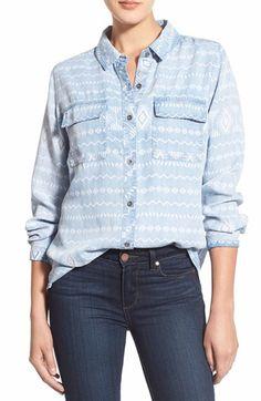 Rails 'Brayden' Pattern Chambray Shirt