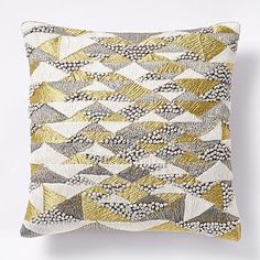 French Knot Mosaic Pillow Cover - Gold #westelm