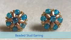 Stunning Superduo Stud | DIY | Simple and Easy |