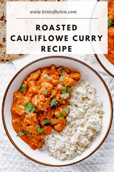This roasted cauliflower curry recipe is one of my favourite ever vegetarian curries. Roasted cauliflower in a tomato & coconut spiced sauce. Easy Vegetable Curry, Veg Curry, Vegetarian Curry, Tasty Vegetarian Recipes, Curry Recipes, Veggie Recipes, Indian Food Recipes, Veggie Indian Food, Cooking Recipes