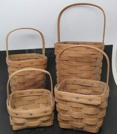 shopgoodwill.com: Lot of 4 - Longaberger Baskets