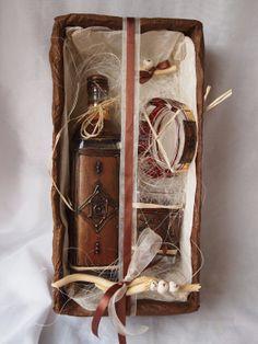 glassdecanterpaintedhandmade by Delyana on Etsy, $60.00