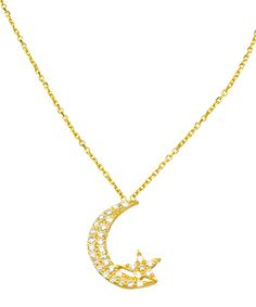 Star and Crescent Moon Necklace