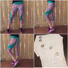 Lindsey's frankenpattern mashup of the PB Jam Leggings with the Sloan Leggings is a riot of colour! Swirl Design, Pattern Making, Workout Leggings, Sewing Patterns, Contrast, Colour, Instagram Posts, How To Make, Collection