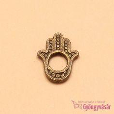 Rézszínű Fatime keze - fém fityegő Heart Ring, Wire, Rings, Jewelry, Jewlery, Bijoux, Ring, Schmuck, Jewelery