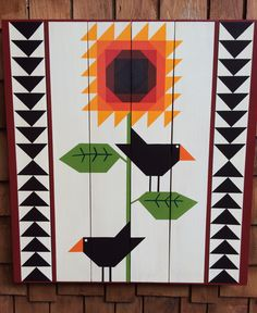 Two Crow  Barn Quilt