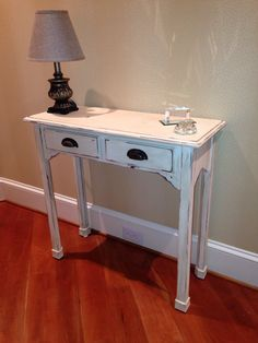 Refinished hall table! Great for an entry way or sofa table!