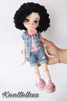 Irresistible Crochet a Doll Ideas. Radiant Crochet a Doll Ideas. Crochet Dolls Free Patterns, Crochet Doll Pattern, Amigurumi Patterns, Doll Patterns, Amigurumi Tutorial, Love Crochet, Beautiful Crochet, Crochet Baby, Knit Crochet
