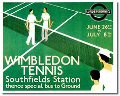 Southfields Station Wimbledon poster