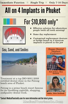 Reasons why people across the globe are flying to Patong for all-on-4 dental implants ->  http://www.medicaltourismco.com/medical-tourism/all-on-4-implants-in-patong-thailand/