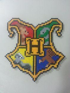 Perler Bead Pattern Hogwarts Harry Potter Crest