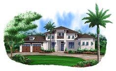 Anna-4 Bedroom, 4 1/2 Bath, 1 Story, 2 Car Garage, Mediterranean House Plan by South Florida Design located in Bonita Springs, Florida.