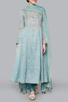 Wedding Suits - Buy Ayaana Suit for Women Online - Blue - Anita Dongre Indian Wedding Outfits, Pakistani Outfits, Indian Outfits, Dress Indian Style, Indian Dresses, Suits For Women, Clothes For Women, Indian Designer Suits, Oufits Casual