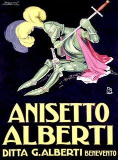 Anisetto Alberti Knight Liquer Fine Art Giclee Print