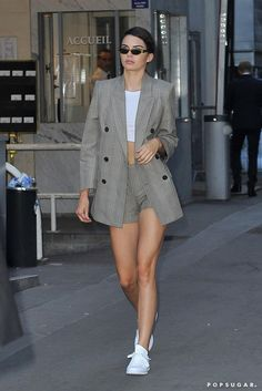 On the Other Hand, Kendall Looked Business Professional in an Oversize Blazer and Matching Shorts