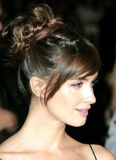 Paz Vega Celebrity Red Carpet Braided Updo Hairstyle | Paz-Vega Hairstyle