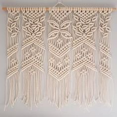 Wall decor online vintage home decor online stores home decor catalog wall decoration wall art Macrame Wall Hanger, Macrame Wall Hanging Patterns, Macrame Curtain, Macrame Bag, Macrame Knots, Macrame Patterns, Macrame Jewelry, Macramé Art, Rope Art