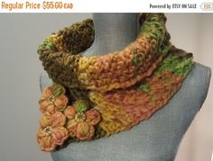 SPRING CLEANING SALE Knit Textured Cowl Scarf with by WhiteTeather