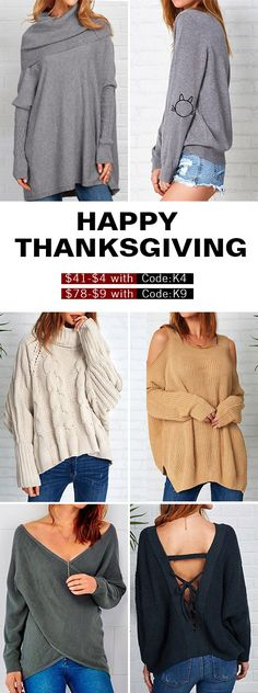 Enjoy $41-$4 with Code:K4&$78-$9 with Code:K9 for fall collection! Free shipping&easy return! We've collected all the best-sellers for you! Enjoy the Thanksgiving treat from Cupshe.com