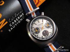 NEW DCVW WATCH AUCTION: All-Original 1970s Citizen 8110 Bullhead Automatic Chronograph, w/Matching Clockwork Synergy NATO
